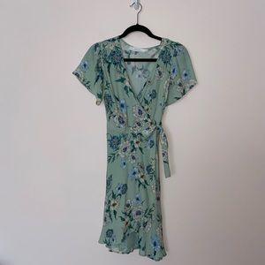 ASTR The Label Floral Printed Wrap Dress Sz Medium